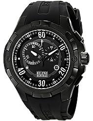 Elini Barokas Mens ELINI-10005-BB-01 Trespasser Black Stainless Steel Watch
