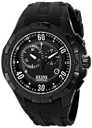 Elini Barokas Men's ELINI-10005-BB-01 Trespasser Black Stainless Steel Watch - Elini Black Chronograph