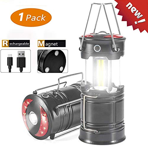 Led Camping Lantern – iBester Newest Rechargeable LED Flashlight Lantern – High Lumen, 4 Modes, Water Resistant Tent Light – Best for Emergency, Camping, Power Outage
