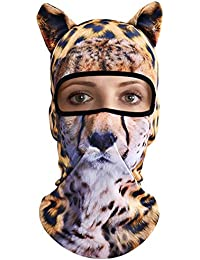 3D Animal Balaclava Face Mask Breathable Ear Outdoor Sports Motorcycle Cycling Snowboard Hunting Ski Cat Dog Halloween...