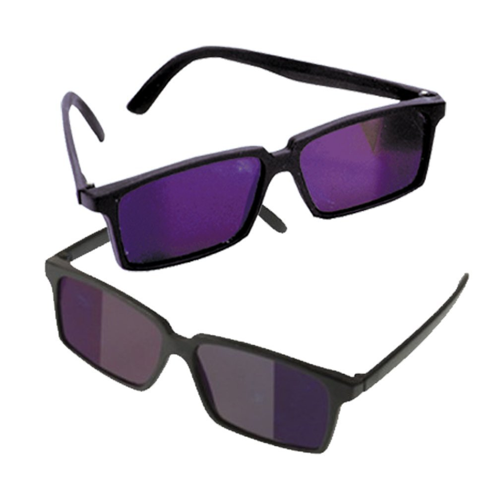 2 Pack Black Secret Rearview Spy Mirror Sunglasses Specially Coated Lenses To See Whats Behind You loftus
