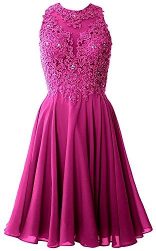 Kurzes Festlichkleider Braut Promkleider Partykleider Mini Pink Ballkleider Abendkleider Weinrot mia Spitze La qaOFtn