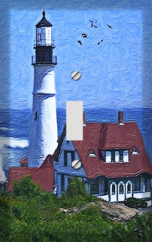 Harbor Lighthouse Decorative Switchplate (Lighthouse Switchplate Cover)