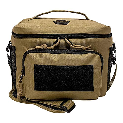 HSD Tactical Lunch Bag - Insulated Cooler, Lunch Box with MOLLE/PALS Webbing, Adjustable Padded Shoulder Strap, for Adults (Coyote Brown)...