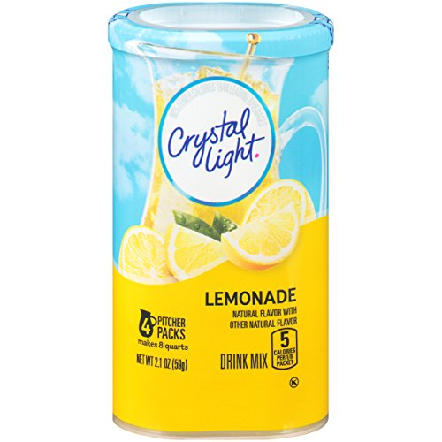 (Crystal Light Lemonade Drink Mix (8-Quart), 2.1-Ounce Canisters (Pack of 4))