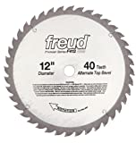 table saw blade sharpening - Freud F412 Premier 12-Inch 40 Tooth ATB General Purpose Saw Blade with 1-Inch Arbor