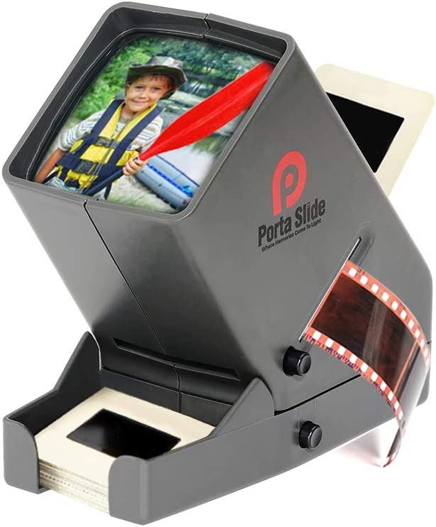 View 2x2 in 35mm Film Strips /& Negatives Porta Slide PS-3 Slide Viewer Slides Screen LED Viewing light USB Power Cable included 3x Magnification w//Cleaning Cloth 4 in