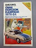 Chilton's repair & tune-up guide, Omni, Horizon, Rampage, 1978-84: All U.S. and Canadian models of Dodge Omni, Miser, 024, Rampage, Charger, Shelby ... Plymouth Horizon, Miser, Scamp, TC3, Turismo