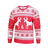 Mens Christmas Printed Long Sleeve Sweater ,Charberry Winter Printing Top Mens T-Shirt Blouse