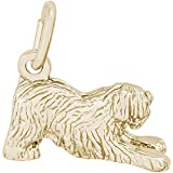 Rembrandt Charms 14K Yellow Gold Old Eng. Sheepdog Charm (0.32 x 0.6 inches)