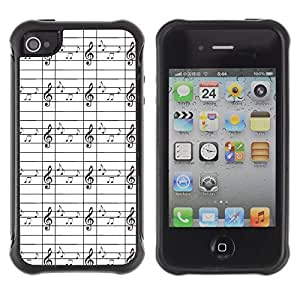 Travers-Diy FlareStar Colour Printing music note Heavy Duty Armor Shockproof Cover Rugged case cover for Apple iPhone swMbUG4JXzc 4 / iPhone 4S