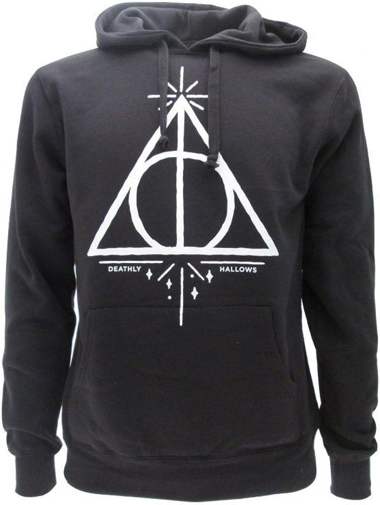 Harry Potter Sudadera con Capucha Hoodie Simbolo de Las Reliquias DE LA Muerte - 100% Oficial Warner Bros (M Medium)