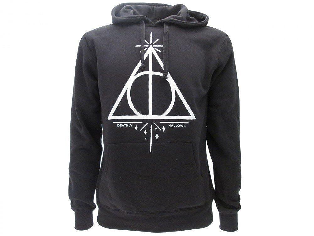 Harry Potter Kapuzenpulli Hoodie Sweatshirt HEILIGTÜMER des Todes Waffen - 100% Offiziell Warner BROS