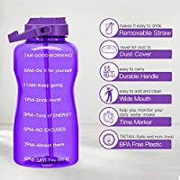 BPA Free with Straw /&Phone Holder Handle//Reminder to Drink More Daily//Leakproof Reusable Large Capacity BuildLife Gallon Water Bottle Motivational