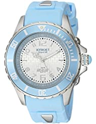 KYBOE! Power Quartz Stainless Steel and Silicone Casual Watch, Color:Blue (Model: KY.40-030.15)