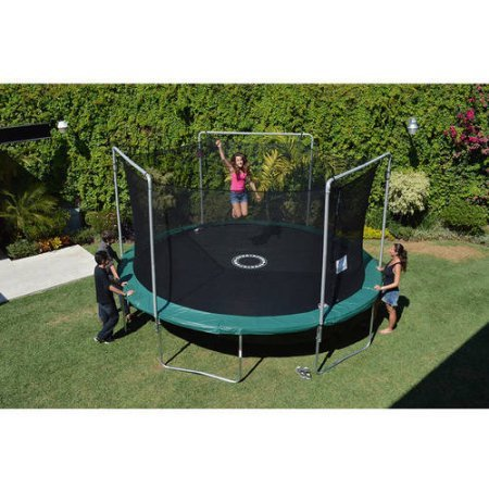 BouncePro by Sportspower 15' Trampoline and Enclosure Combo with Electron Shooter Game
