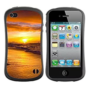 Pulsar iFace Series Tpu silicona Carcasa Funda Case para Apple iPhone 4 / iPhone 4S , Sunset Sea Beautiful Nature 18