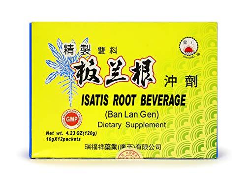 Isatis Root Beverage Ban LAN Gen Traditional Herbal Supplement Instant Tea 12 Packets ()
