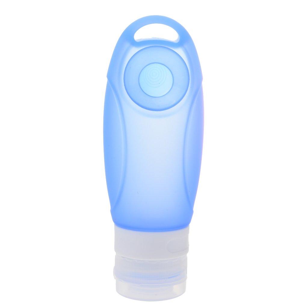 Silikon Nachf/üllbare Reise Flaschen f/ür Duschgel Shampoo Creme K/örperpflege mit Saugnapf Blau