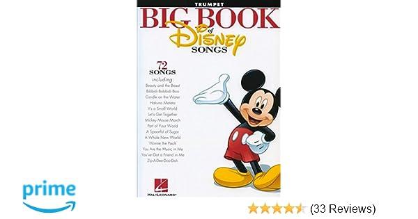 Amazon com: The Big Book of Disney Songs: Trumpet (0884088591106