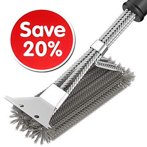 Grill Cleaner Brush - BBQ Brush - BBQ Grill Grate Cleaner Br