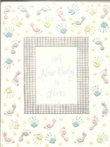 A New Baby to Love Announcements 10 Count w/Envelopes, Hands and Feet Impressions