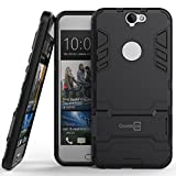 HTC One A9 Case, CoverON® [Shadow Armor Series] Dual Layer Hybrid Cover Kickstand Phone Case For HTC One A9 - Navy Gray & Black