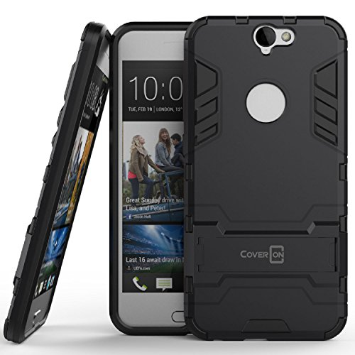 HTC One A9 Case, CoverON [Shadow Armor Series] Dual Layer Hybrid Cover Kickstand Phone Case For HTC One A9 - Navy Gray & Black
