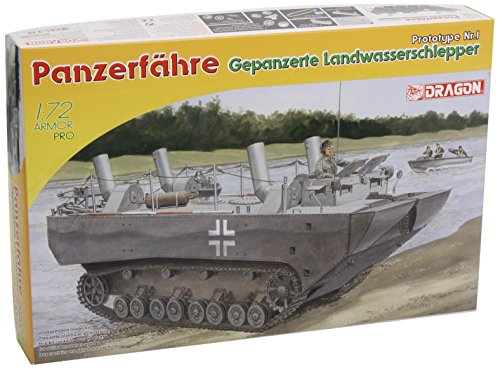 Dragon Models Panzerfähre Gepanzerte Landwasserschlepper Prototype Nr.I Model Building Kit, Scale 1/72