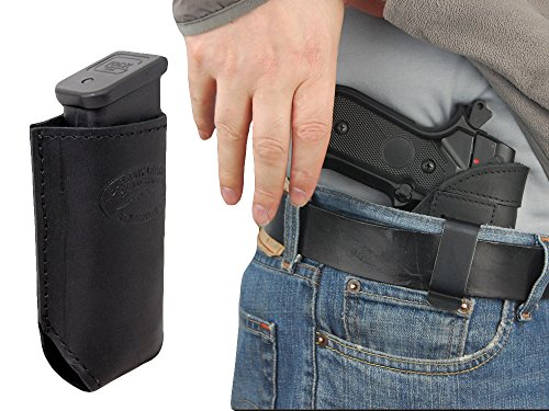 New Barsony Black Leather Gun IWB Holster + Magazine Pouch for BERETTA PX4 STORM right - Black Leather Belt Px4 Holsters