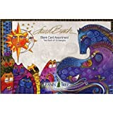 Laurel Burch [AST90696] Blank Card Assortment by Leanin' Tree - 20 cards with full-color interiors and 22 designed envelopes by Leanin' Tree