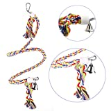 CocoGo Cotton Rope Bungee Bird Chewing Toy Birds Cage Stand Bar Suitable for Small or Medium Parrots and Birds (0.5-Inch by 46-Inch)