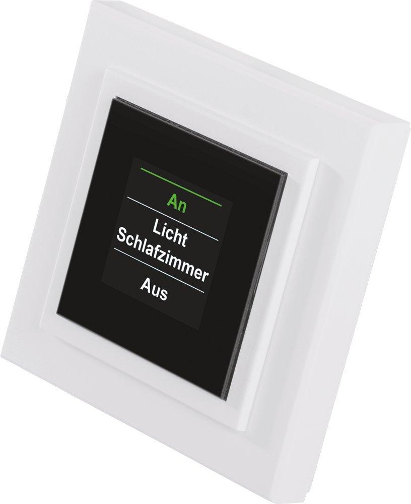 Homematic 85975A0B Funk-Display-Wandtaster, Aufputzmontage eQ-3 AG 57894