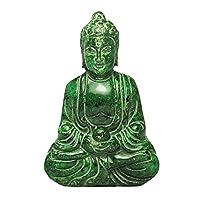 Wizard Stone Buddha intagliato a mano vecchia statua di giada O-44