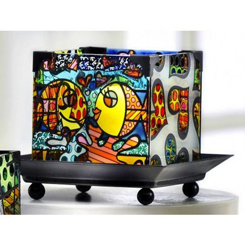 Romero Britto Deeply in Love Candleholder (Fish)
