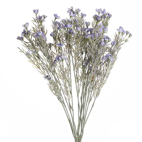 Factory Direct Craft Artificial Whispy Lavender Flocked Grass Bush for Event Decor, Garden Embellishing and Crafting