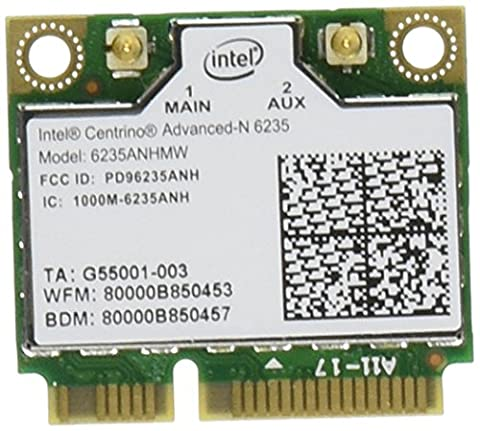 Intel Network 6235AN.HMWWB Centrino WiFi Card Half Mini PCI Express Advanced-N 6235 Dual Band (Wifi Card Mini Pci)