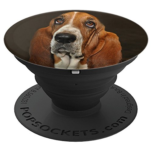 Bassett Hound Dog Puppy - PopSockets Grip and Stand for Phones and Tablets ()
