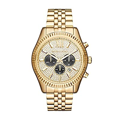 Michael Kors Men's Lexington Gold-Tone Watch MK8494 by Michael Kors Watches