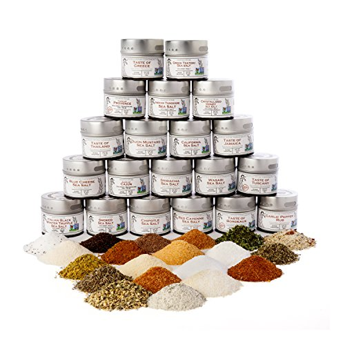 Complete Gourmet Seasonings, Spices and Sea Salts Collection | Non GMO Verified | 20 Magnetic Tins | Gourmet Seasonings | Crafted in Small Batches by Gustus Vitae | #29 by Gustus Vitae