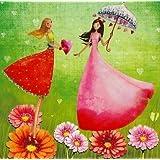 Postkarte 14x14cm ~ Mila Marquis ~ Freundinnen
