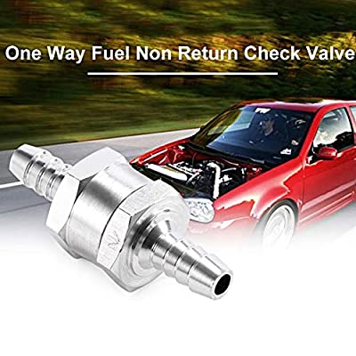 [2 Packs] BOYISEN 10mm 3/8'' Aluminium Non-return One Way Check Valve Petrol Diesel Oil (10mm(3/8'')): Automotive