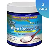 Coconut Secret Alive Coconut Oil (2 Pack) - 16 fl oz - Raw Extra Virgin Coconut Oil for Skin, Cooking, High in MCTs - Organic, Vegan, Non-GMO, Gluten-Free, Kosher - 64 Total Servings