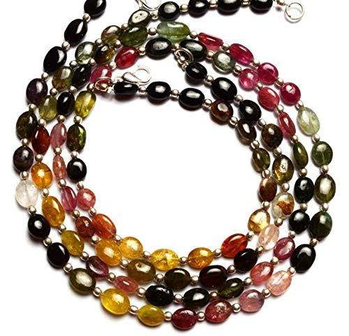 GemAbyss Beads Gemstone 1 Strand Natural Tourmaline Multicolor Nugget Beads 19 Inch Long Full Strand Top Quality 8x6 to 9x7MM Code-MVG-11893