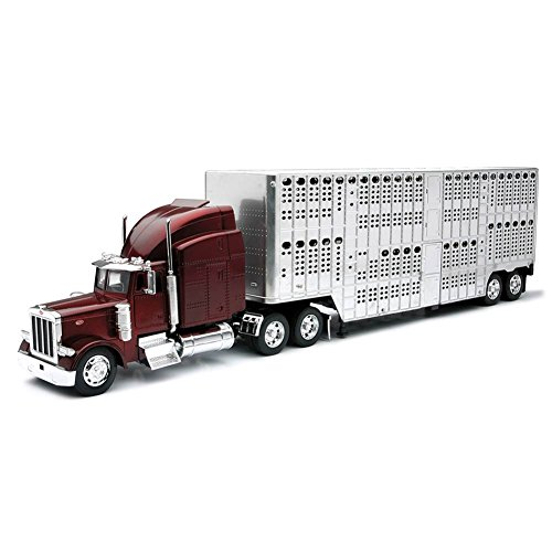 New Ray 1:32 PETERBILT 379 POT BELL LIVE (Livestock Trailer)