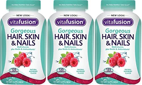 Vitafusion Gorgeous Hair, Skin & Nails Multivitamin, 135 Count (Pack of 3)