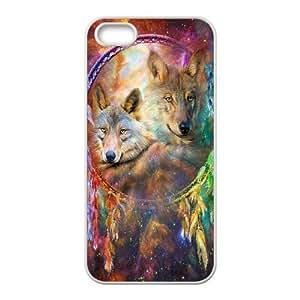 C-EUR Diy Wolf Dream Catcher Hard Back Case for Iphone 5 5g 5s