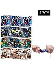 Mikrofaser Handtuch Schnelltrocknend, Ultraleicht Weich Sporthandtuch Fitness, Kühlendes Handtuchset 4 pcs 100x30cm