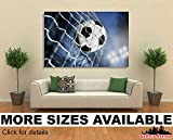Wall Art Canvas Picture Print - Soccer Ball in the Net, Goal -3.2
