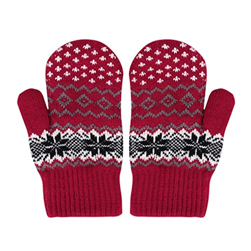 Cable Mitten - Women Men Winter Cable Knit Mitten Gloves Thermal Fleece Lined Mittens Full Finger Hand Warmer Cold Weather Gloves Gift
